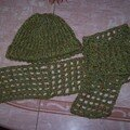 Bonnet tricotin echarpe crocheté