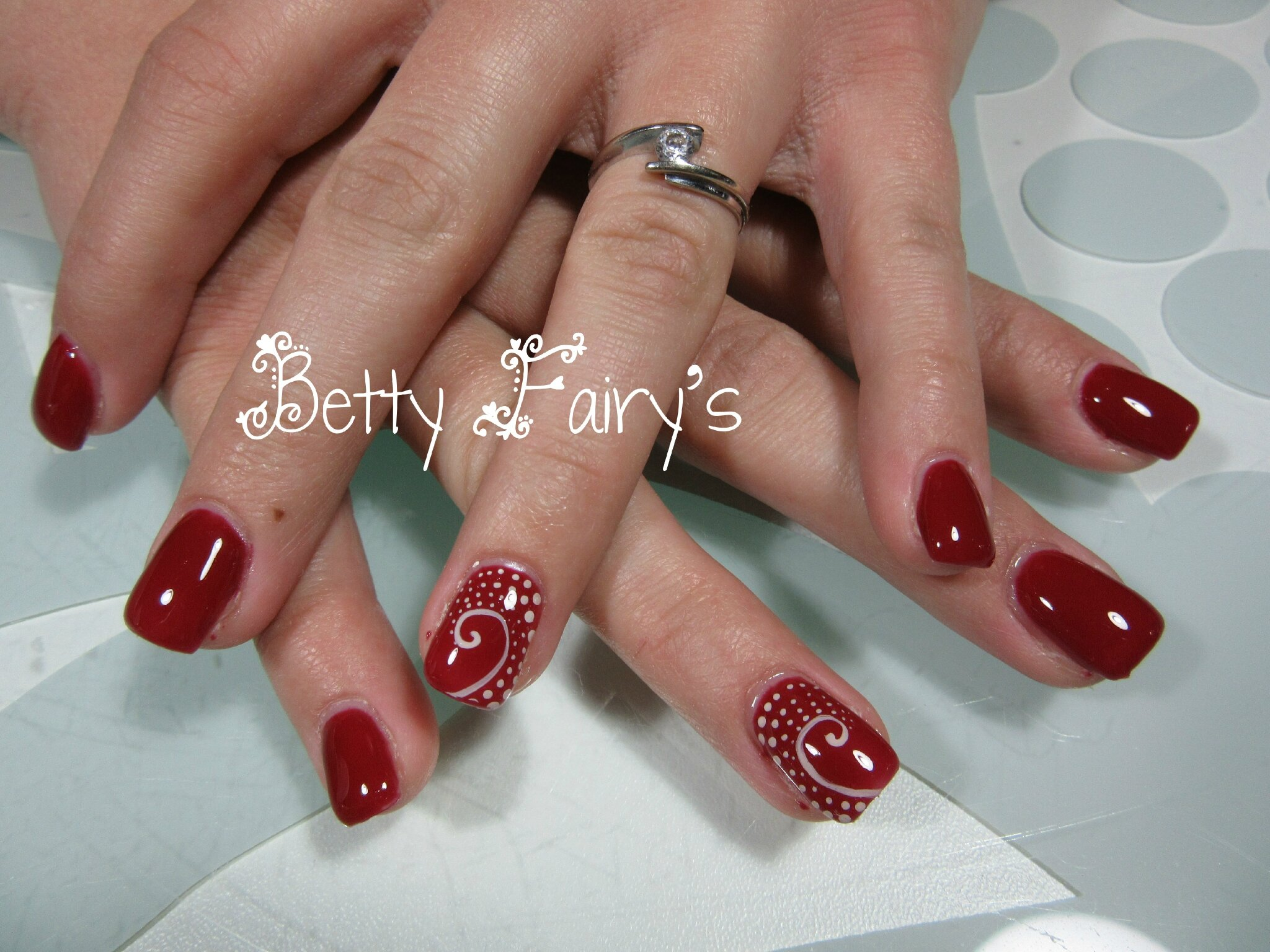 Ongles Gel Rouge Deco
