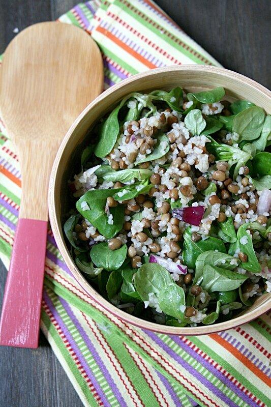 Salade de lentilles et bulghour - Passion culinaire