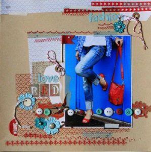 Lift de page n°1 juillet 2012 Atelier à Scrap l'été s'ra chaud de Karine Cazenave-Tapie