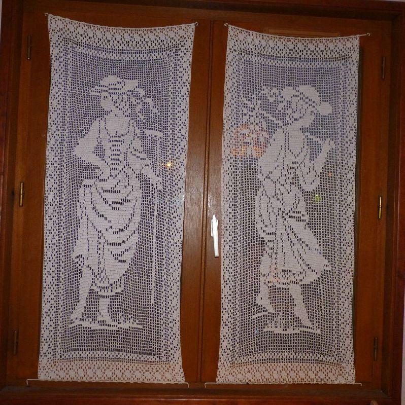 rideaux en dentelle au motif petites filles couture tricot scrapbooking bijoux. Black Bedroom Furniture Sets. Home Design Ideas