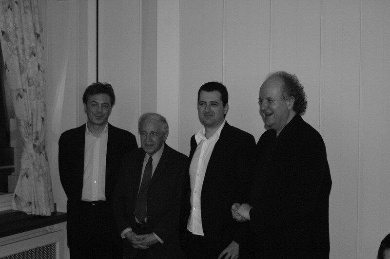 Hans-Peter Kyburz, Pierre Boulez, Wolfgang Rihm et Bruno.