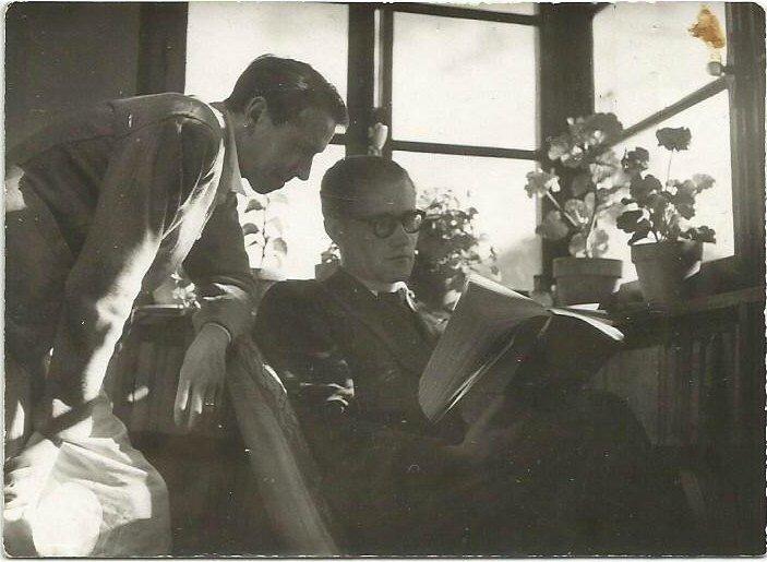 Paul Gadenne et Louis Lief au plateau d'Assy