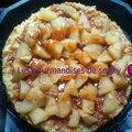 Génoise nappé de son caramel beurre salé et pommes cannelle