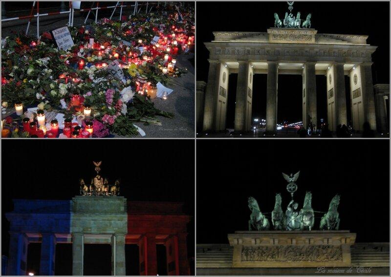 2015-11-15 - Porte de Brandebourg et ambassade après les attentats