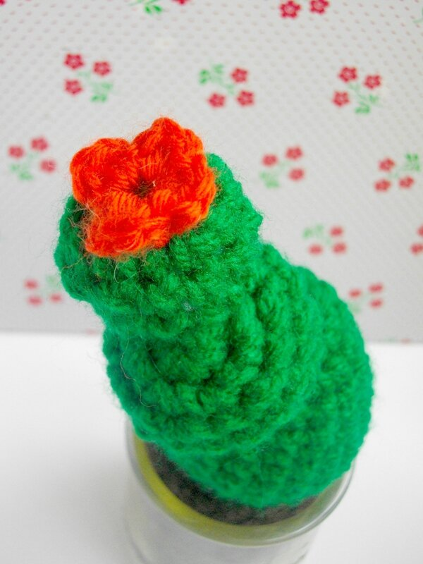 cactus-crochet-vert-fleur-détail-adhésif-kitsch-kitchen-diy-