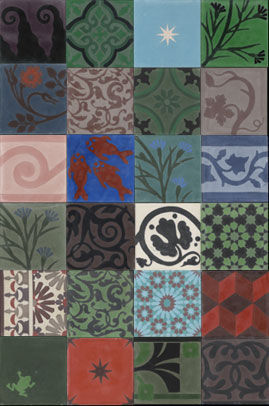 Carreaux de ciment villa clair matin for Patchwork carreaux de ciment