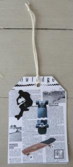 Etiquette papier Skate -7