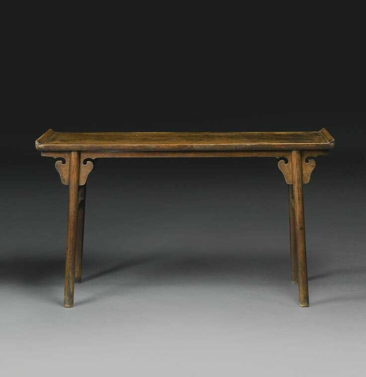 A Huanghuali recessed-leg table (qiaotouan), Ming dynasty, 16th-17th century