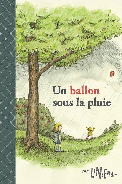 un ballon sous la pluie