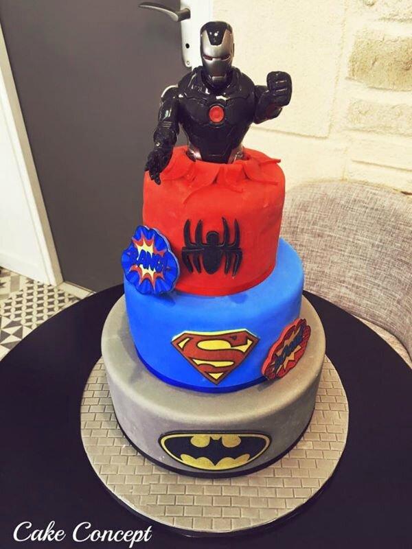 Cake design super heros