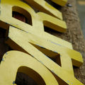 P a R I s - Yellow metal letters