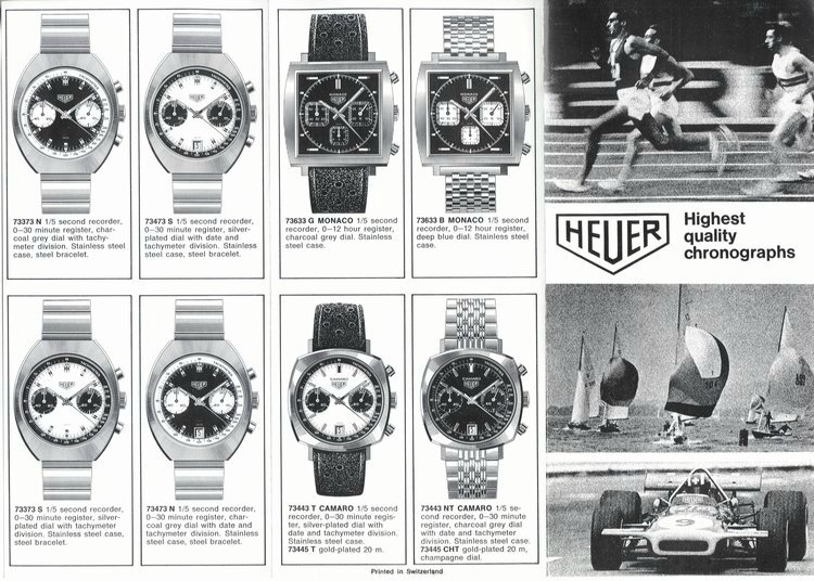 catalogue heuer 71