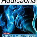Addictions n°37 en ligne - anpaa