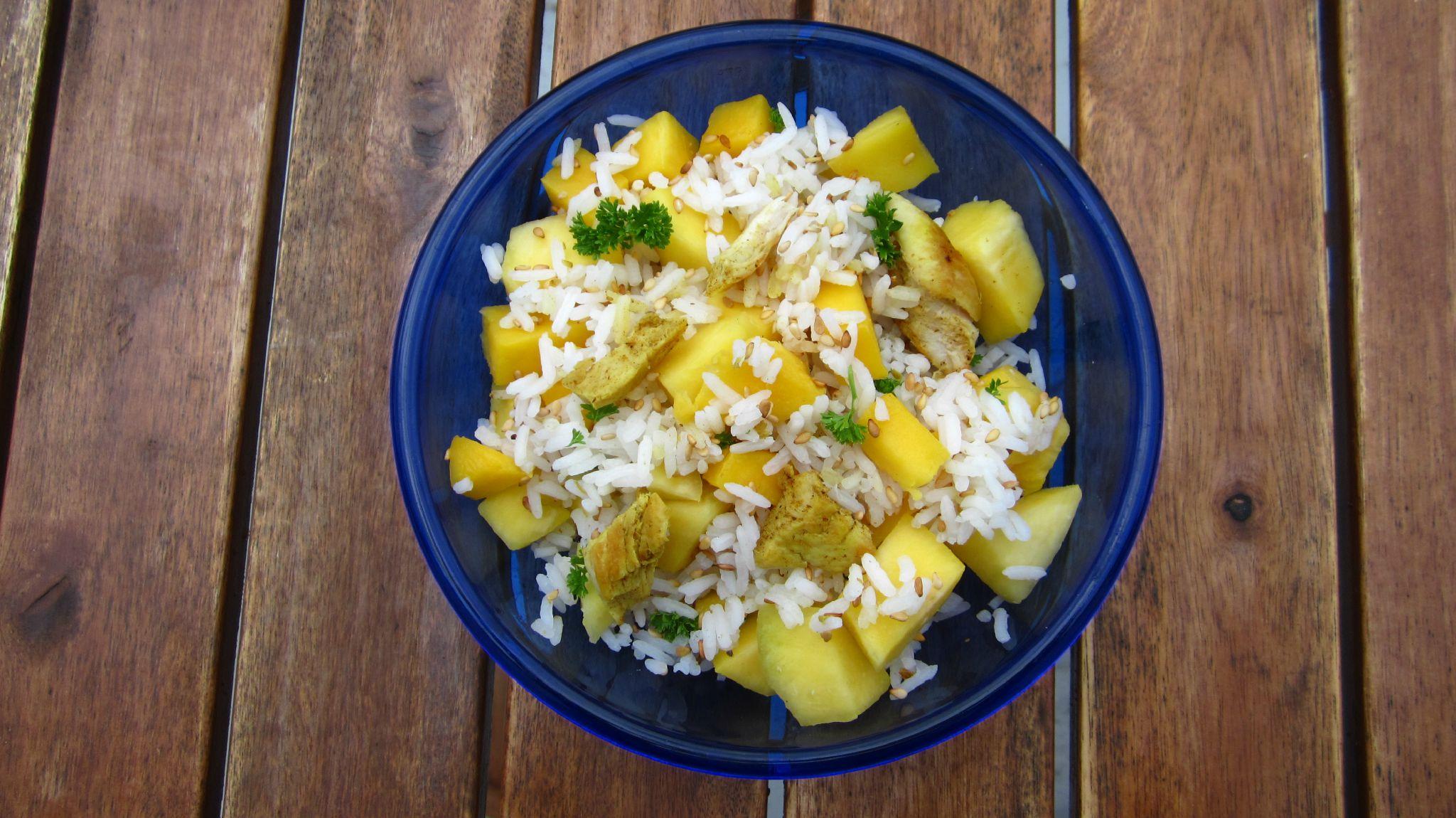 Salade thaï mangue poulet