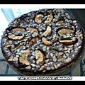 Pommes/poires/chocolat/amandes (tarte)