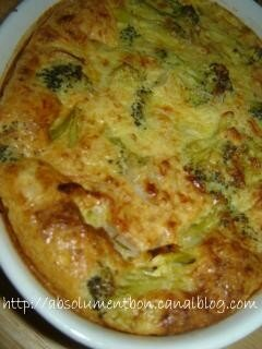 quiche sans pate au brocolis et emmental absolutely delicious with soulafa. Black Bedroom Furniture Sets. Home Design Ideas