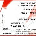 Neil young - jeudi 4 juin 2009 - zénith (paris)