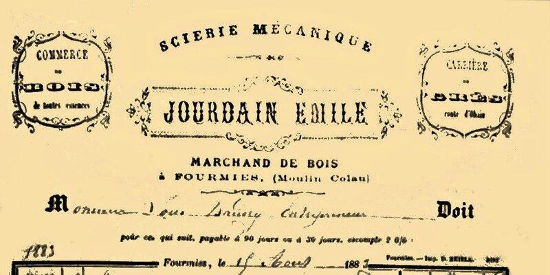 FOURMIES-Jourdain Emile 1883