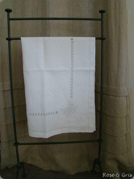 serviette de toilette en fil