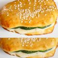 Sandwich hyperprotin crme de volaille courgette