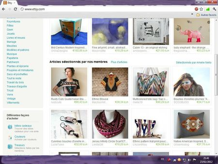 etsy page d'accueil