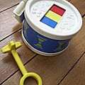 Tambourin xylophone Fisher Price vintage