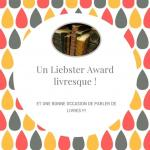 Liebster Award livresque