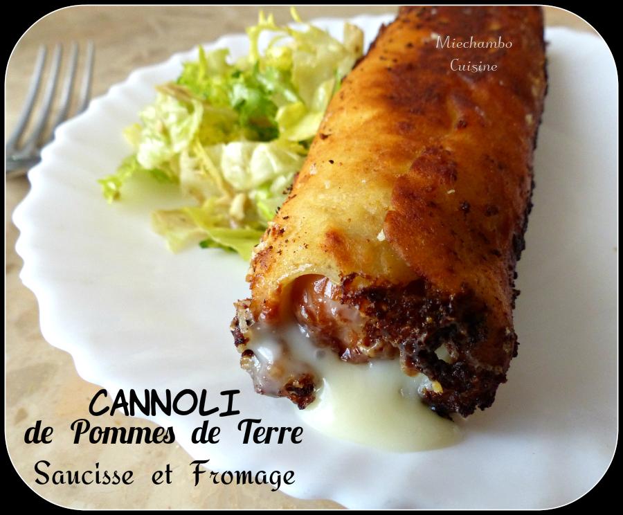 """""""Cannoli"""" de pommes de terre à la saucisse et fromage"""