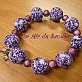 Bracelet élastique Violet (3)