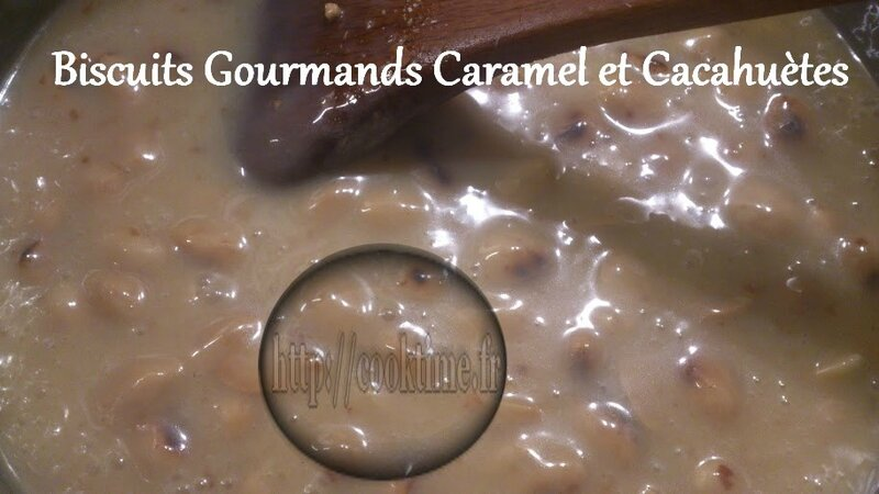 Biscuits Gourmands Caramel et cacahuètes au Thermomix 4