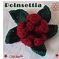 Poinsettia au crochet 1