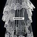 voile de mariée dentelle blanc 1.5m neuf (voile n°12)(réf v-150-dent)
