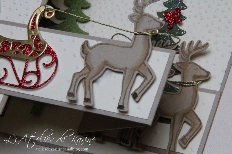 Carte double Z - Traîneau de Noël 4