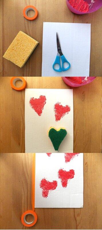 Carte-st-valentin-tampons-maison-eponge