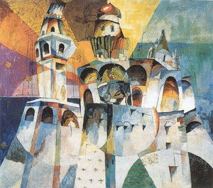 Lentulov__Aristarch_Vasilyevich_The_Peal__The_Bell_Tower_of_Ivan_the_Great__fine_art_print_b