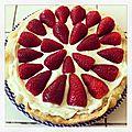 Tarte aux fraises et à la mascarpone
