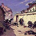 De Neuvielle, Attaque surprise dans les faubourgs de Metz (1875)