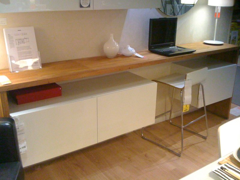 Un bureau console chez ik a home and office design - Construire sa bibliotheque sur mesure ...