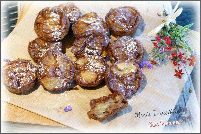 """ღ """" Miam """" Mini Gâteaux Invisibles aux pommes"""
