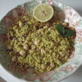 Couscous au curry- pois chiche et tomates séchées
