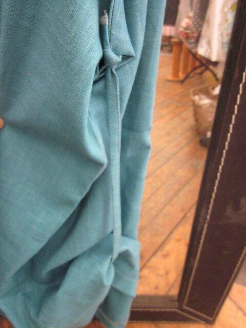 Robe CELESTE en lin bleu lagon (1)