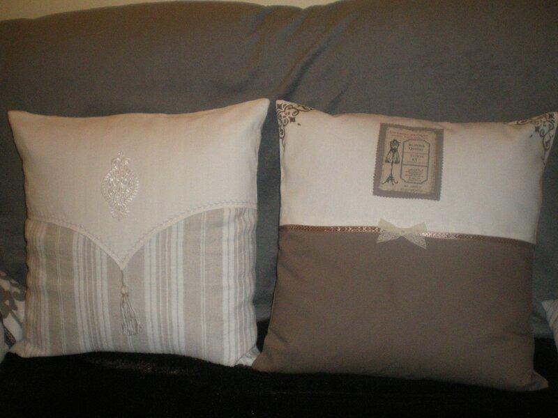 coussins shabby chic nam se debrouille. Black Bedroom Furniture Sets. Home Design Ideas