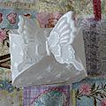 Boite fermeture papillon en pergamano