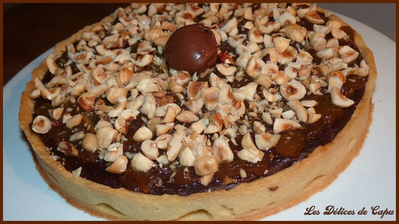Tarte au chocolat et au nutella1