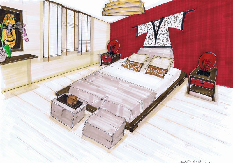 am nagement d 39 une maison sur plan 91 tage chambre parentale pinkspace audrey clain. Black Bedroom Furniture Sets. Home Design Ideas