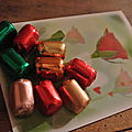 quelques mots et quelques chocolats à la liqueur d'Alsace