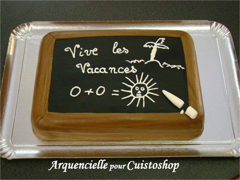Gâteau Ardoise d'école