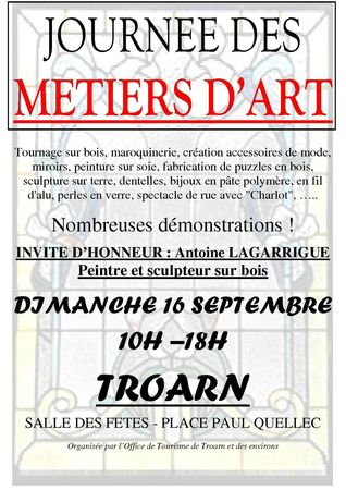 Affiche Journe Mtiers d'Art