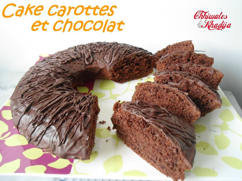 cake carottes chocolat